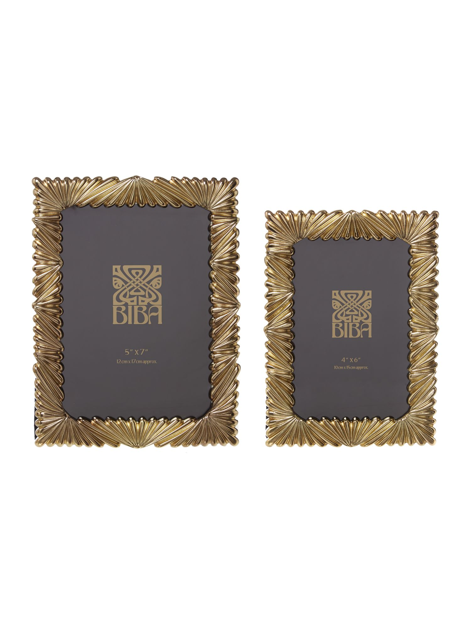 Biba gold fan effect photo frames