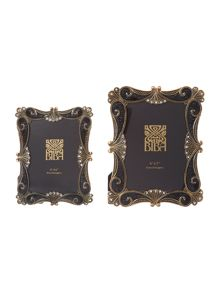 Black Baroque Style Photo Frames