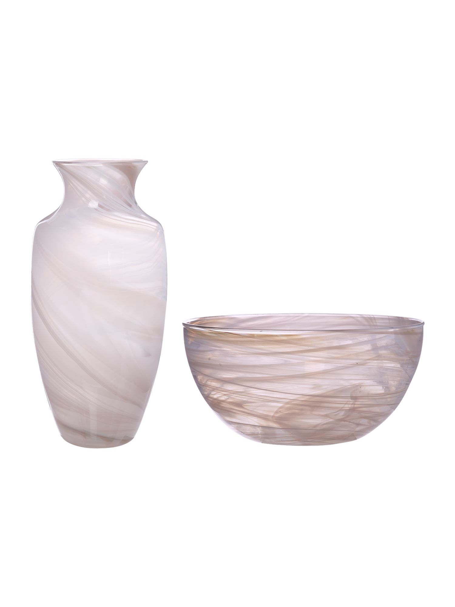 House of Fraser Swirl Opal Vases