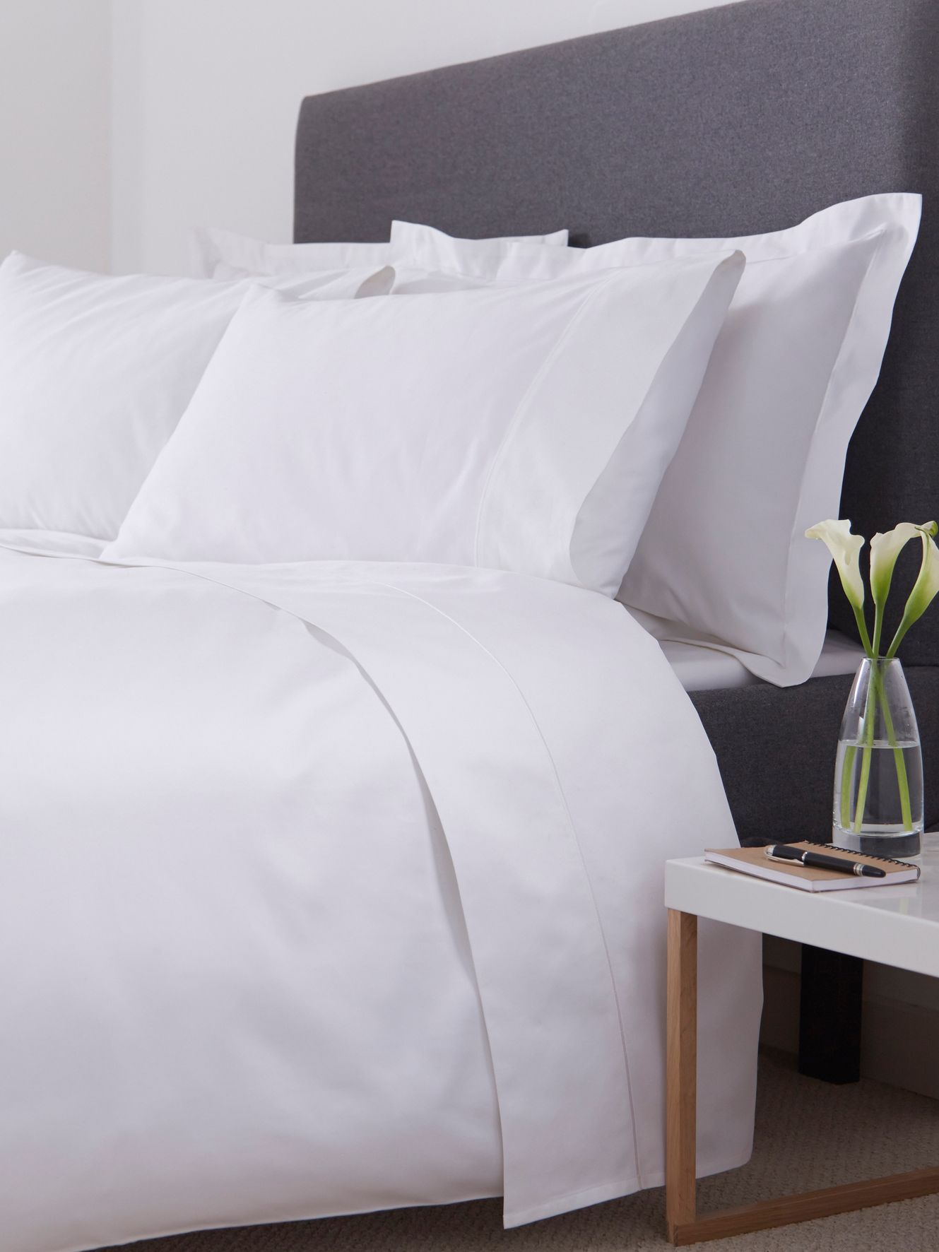 800 thread count single duvet cover set white