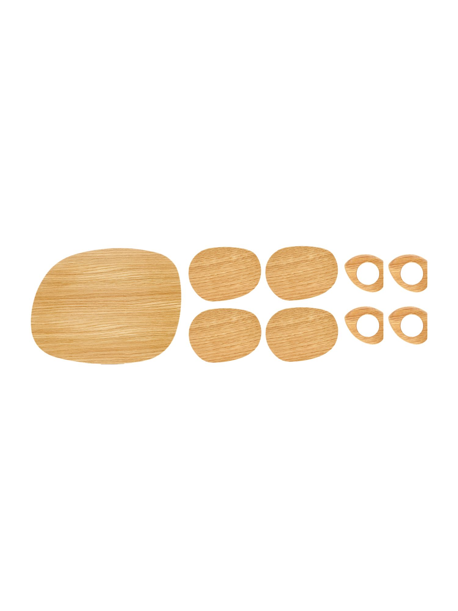 Linea Organic Oak Tablesetting