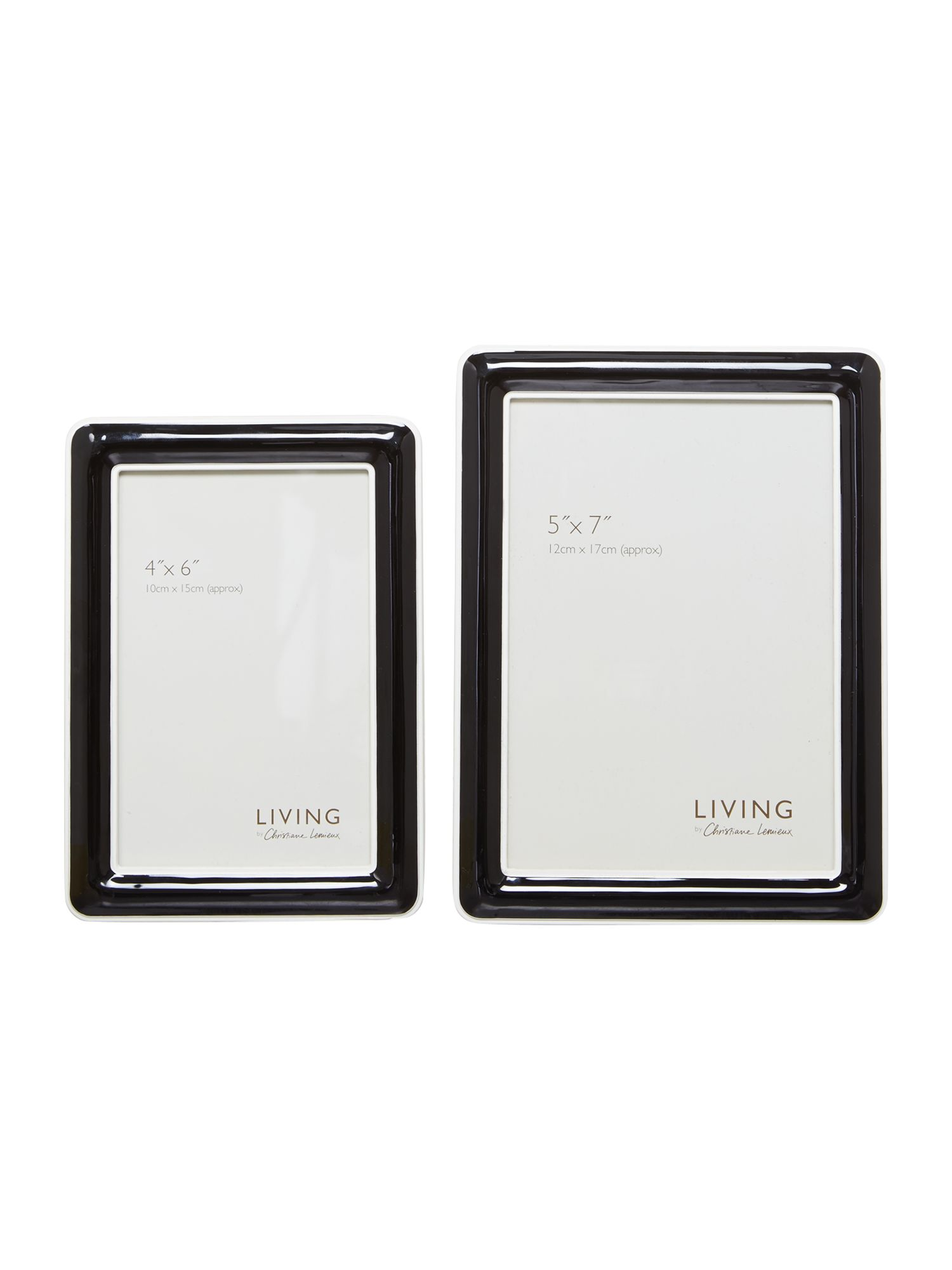 Black enamel photo frame range