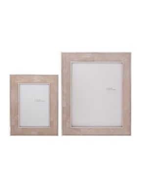 Mother of Pearl Frame with silver inlay
