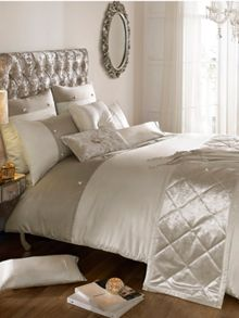 Kylie Minogue Catarina oyster super king duvet cover