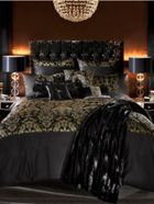 Kylie Minogue Alondra bed linen in black and gold