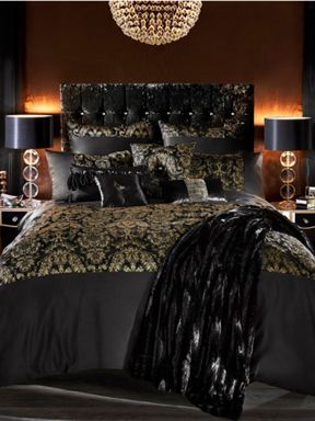 Kylie Minogue Alondra bed linen in black and gold - House ...