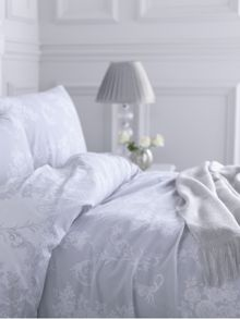 Shabby Chic Grey rose scroll duvet set