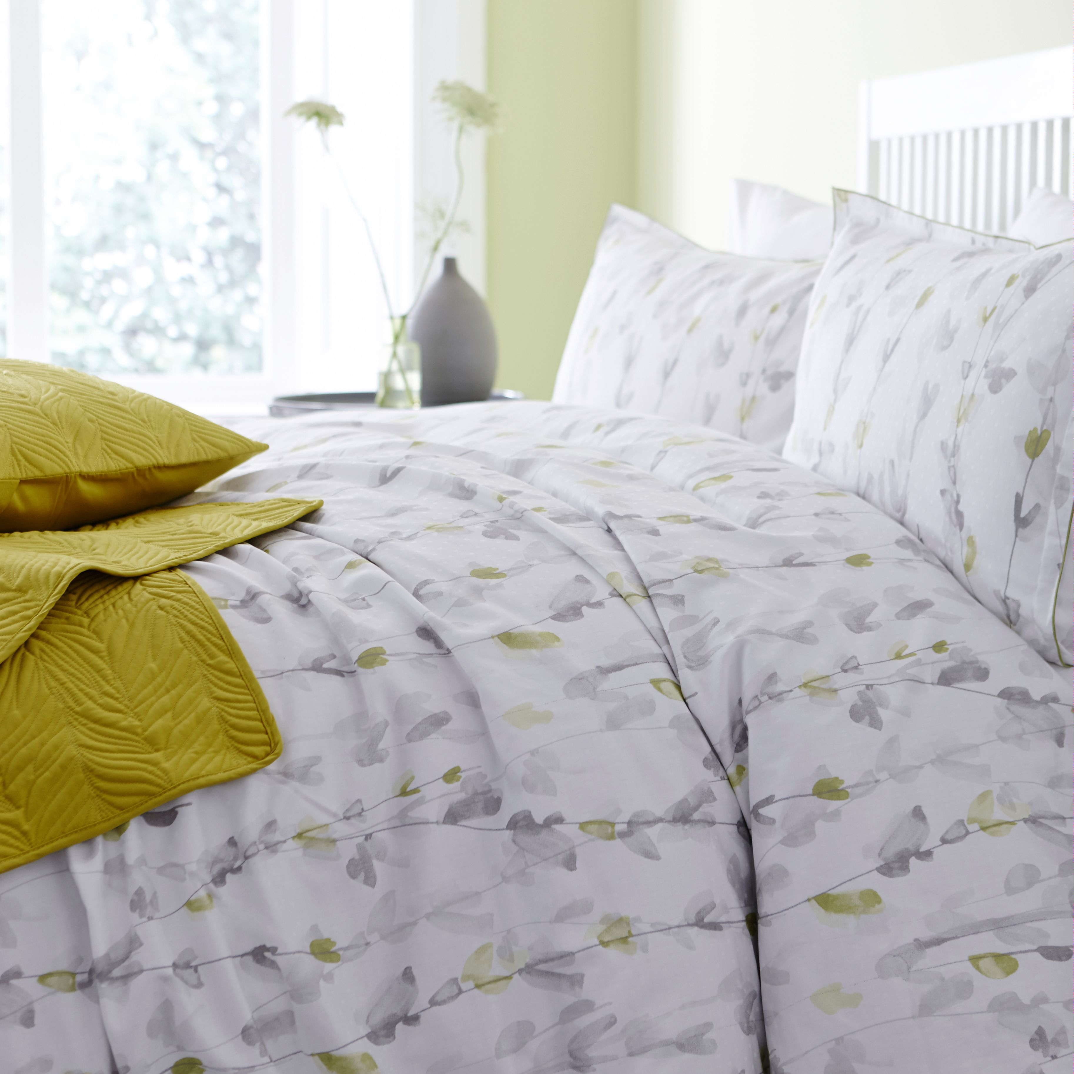 Limeflower king duvet cover set