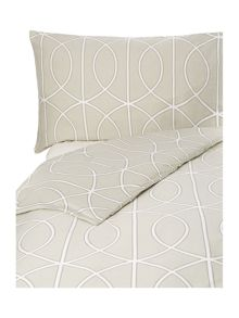 Trellis print king duvet cover