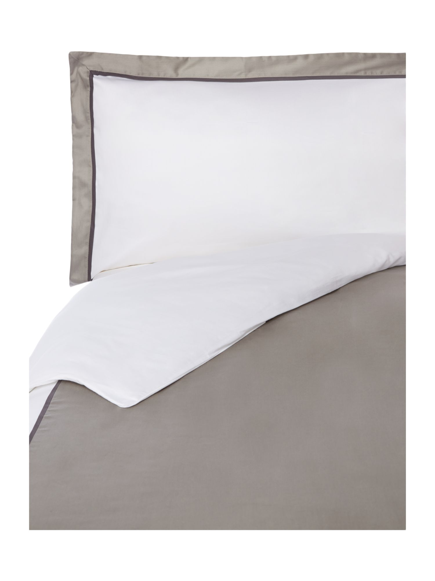 Grey double oxford bed linen