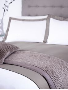 Grey double oxford pillowcase pair
