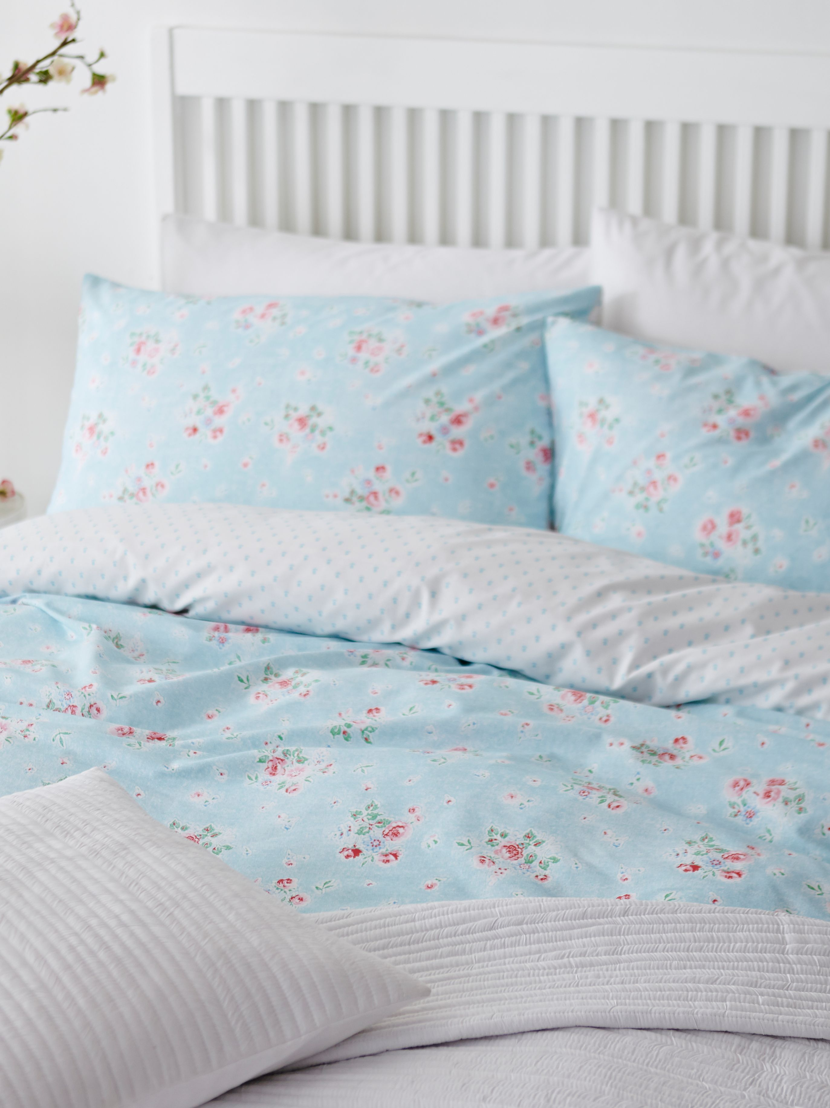 Vintage floral single duvet set