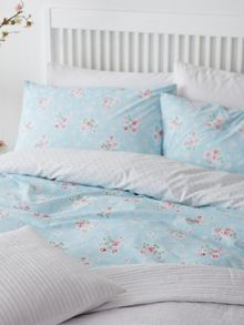 Vintage floral king duvet cover set