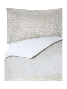 Silver scroll jacquard bed linen