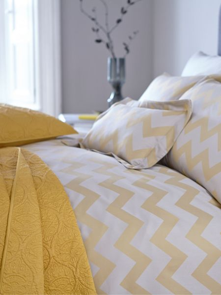 Living by Christiane Lemieux Citrine chevron king duvet cover
