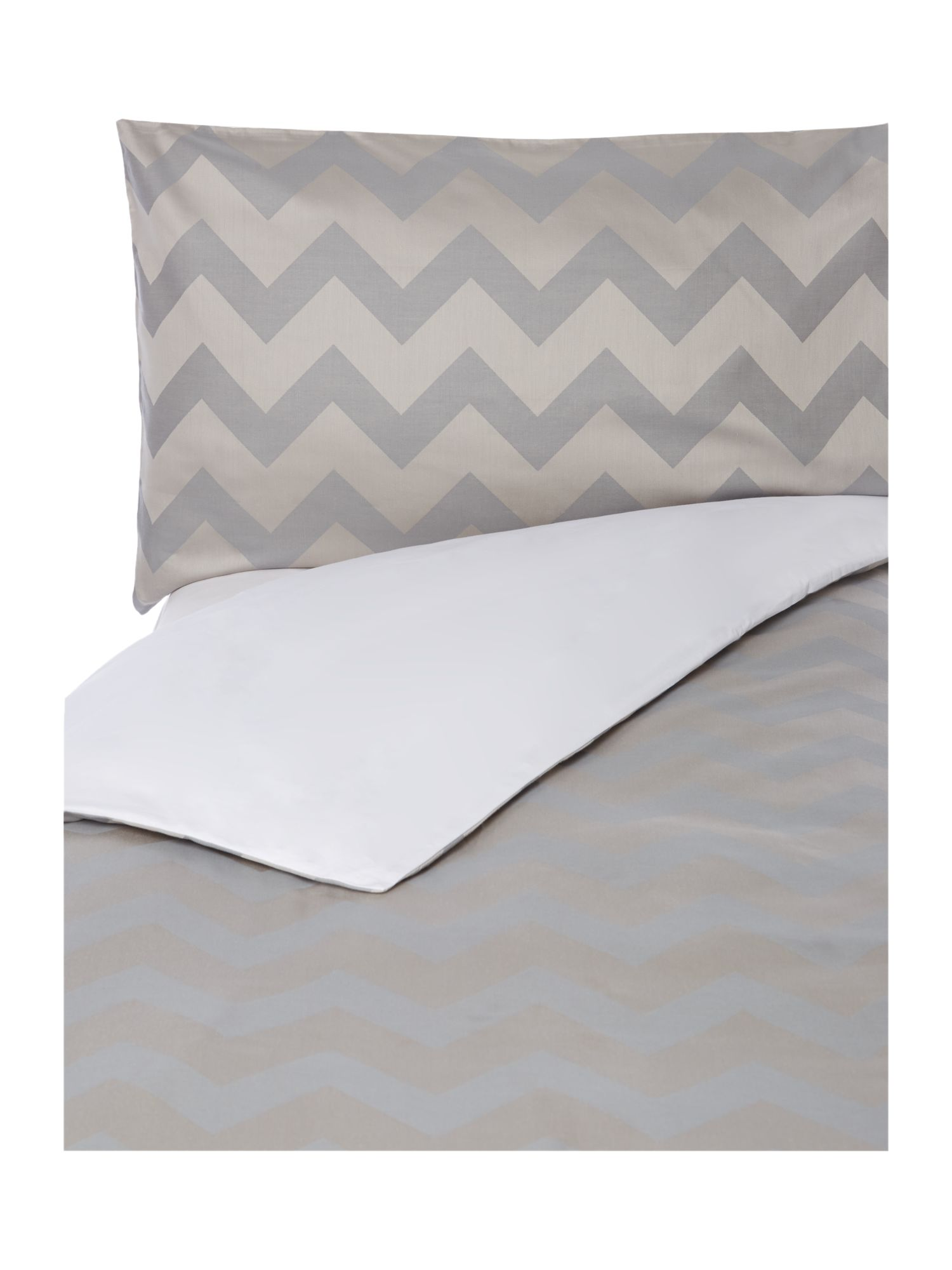 Slate chevron bed linen