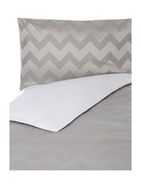 Living by Christiane Lemieux Slate chevron bed linen