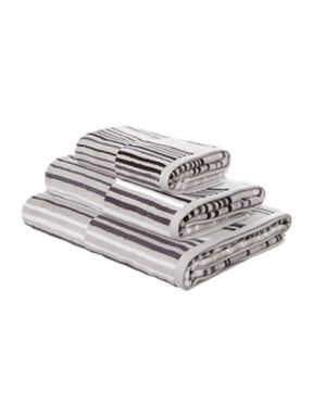 Linea Monochrome velour stripe towels