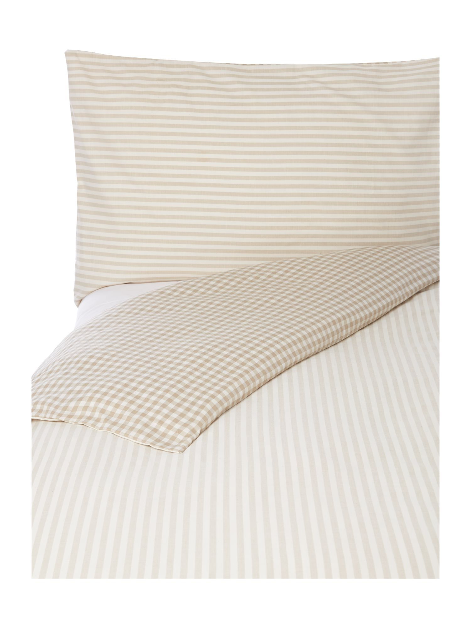 Beige stripe bed linen set