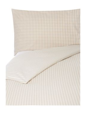 Linea Beige stripe bed linen set
