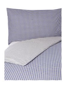 Blue stripe bed linen set