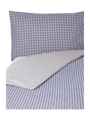 Linea Blue stripe bed linen set