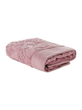 Pied a Terre Heavy jacquard towel in orchid