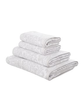 Shabby Chic Grey jacquard towels