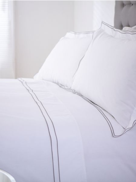 Casa Couture Greenwich white double duvet cover