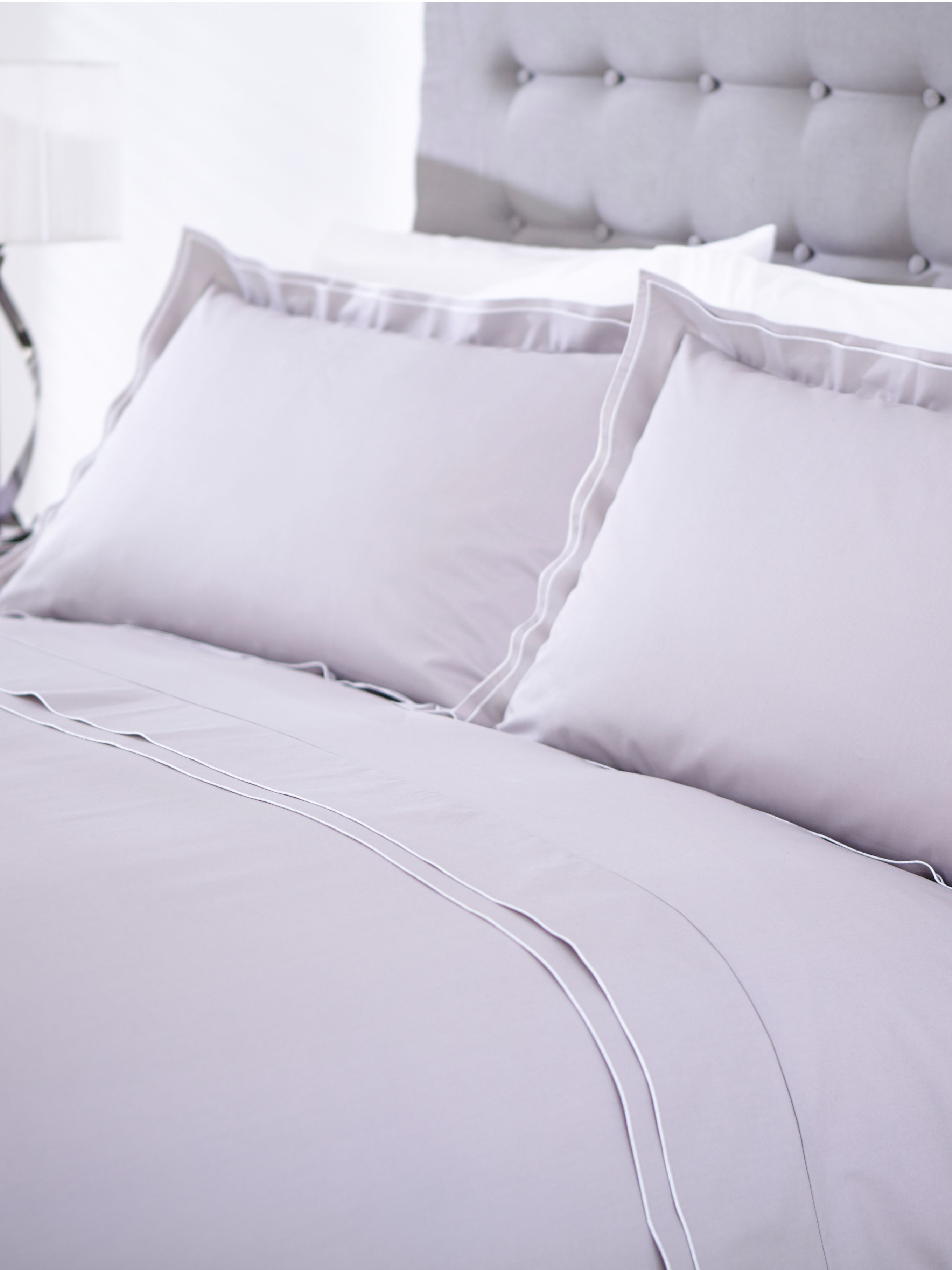 Greenwich grey bed linen