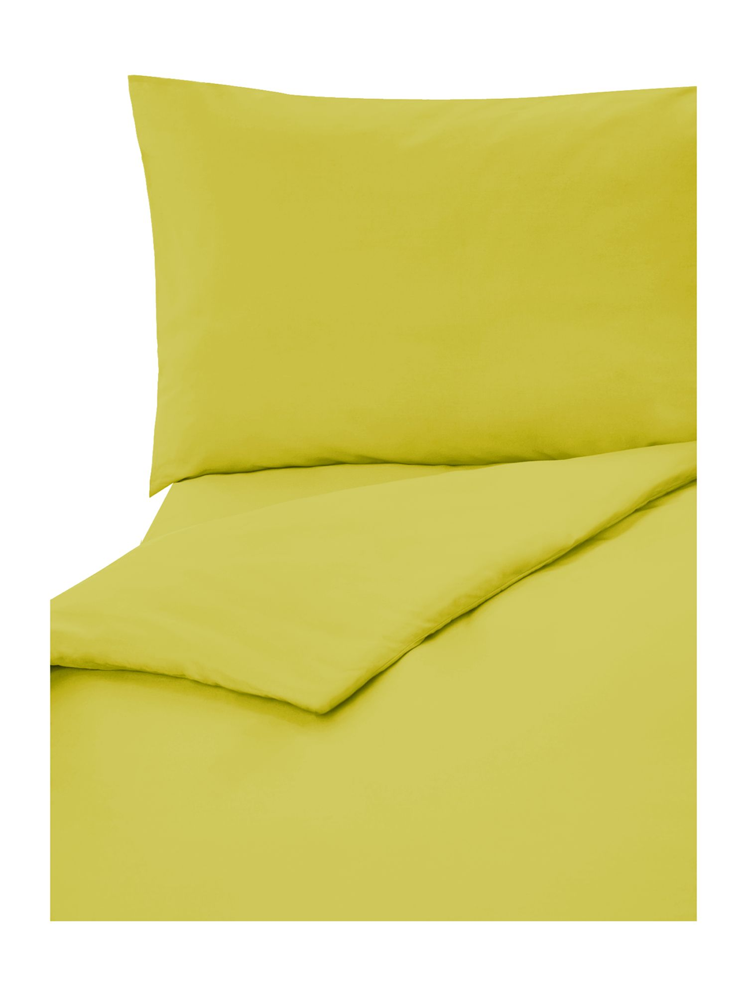 Lime plain dye bed linen