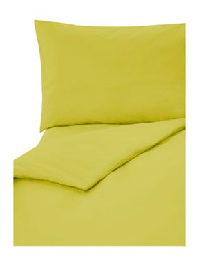 Linea Lime plain dye bed linen