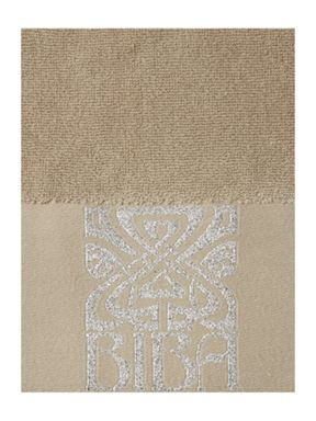 Biba Silver logo towels in grey