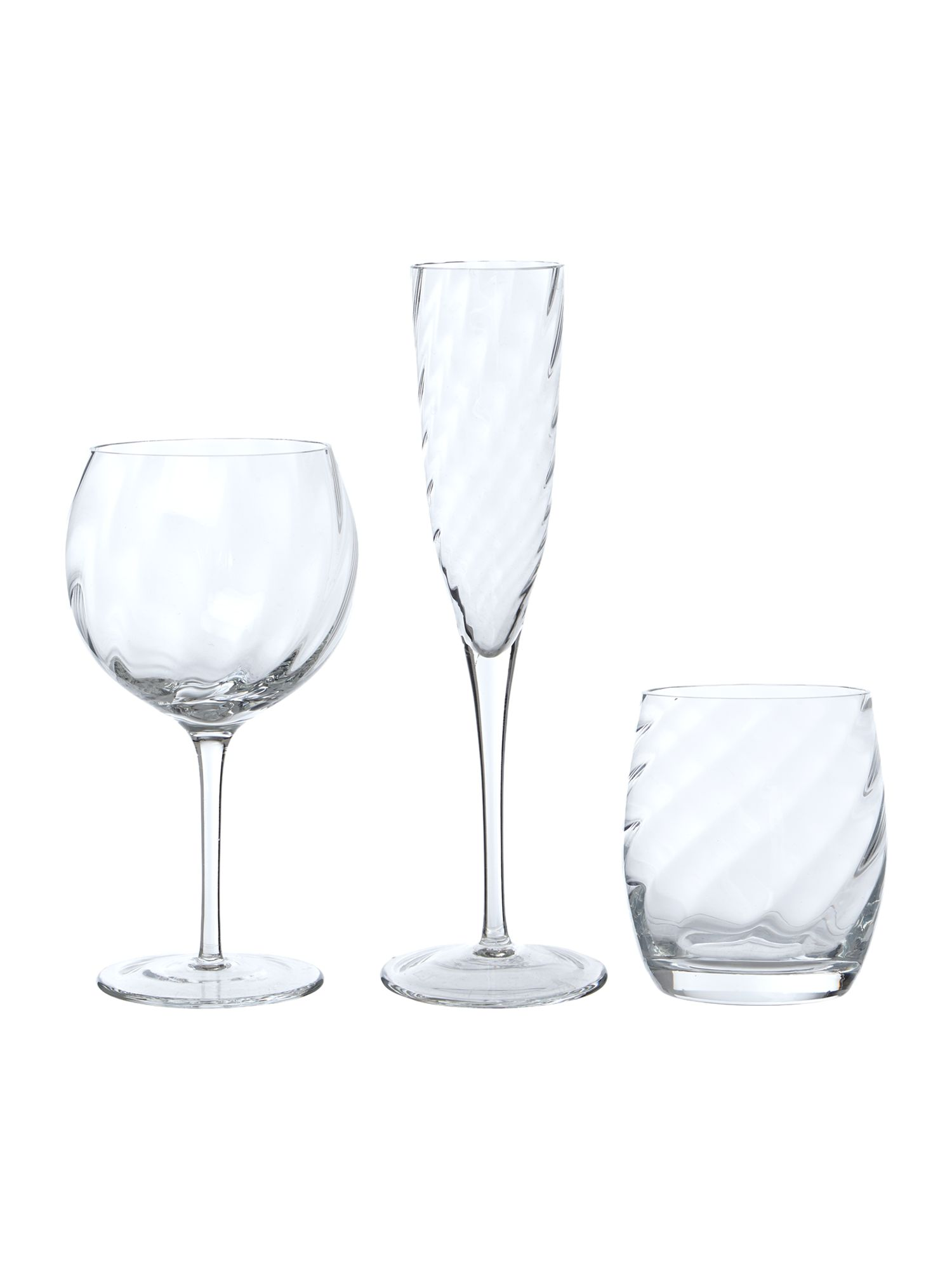 Optic Clear Glassware