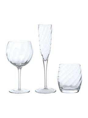 Pied a Terre Optic Clear Glassware