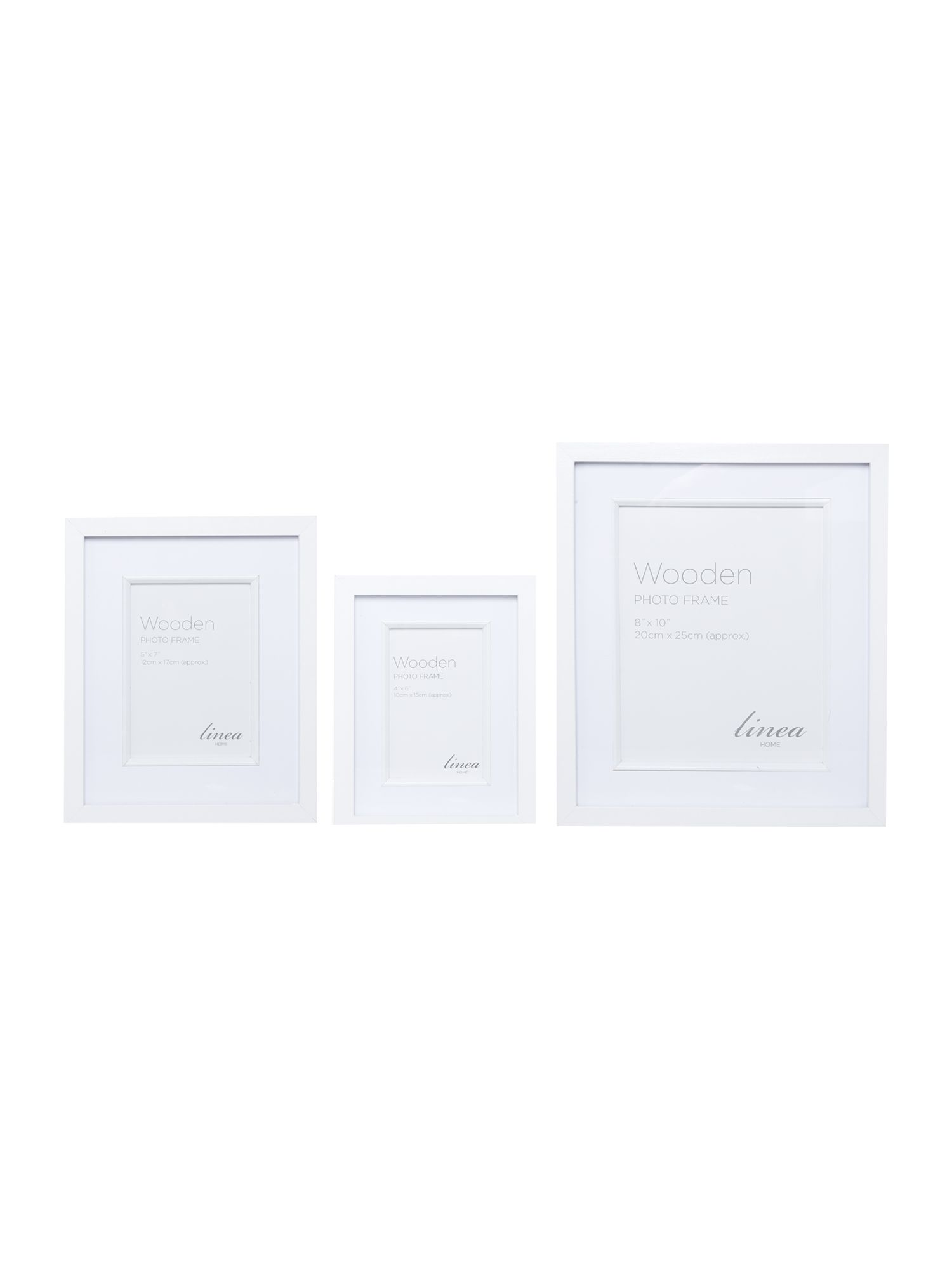 White Wood Photo Frame Range