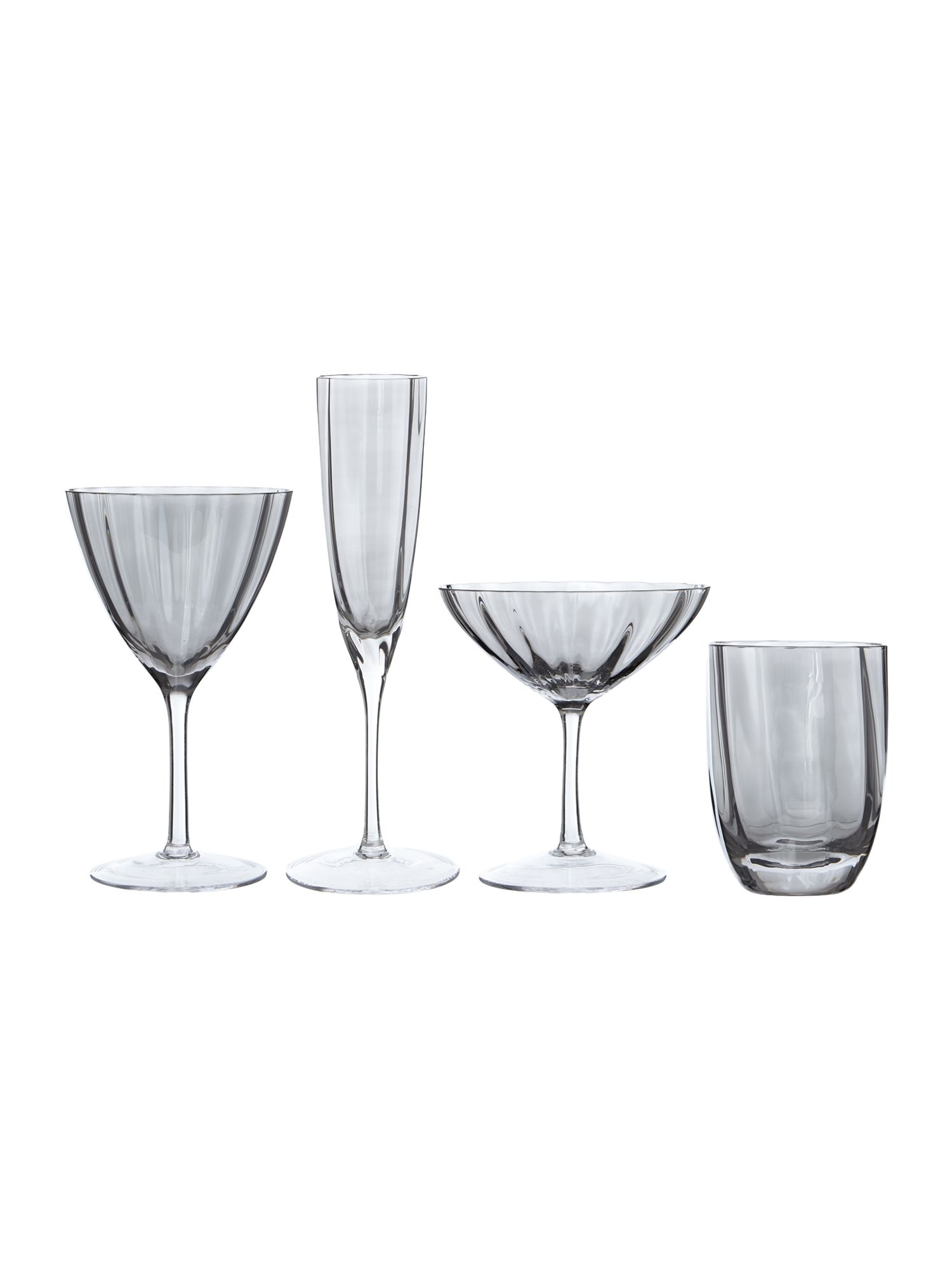Smoke Optic Glassware