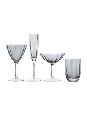 Biba Smoke Optic Glassware