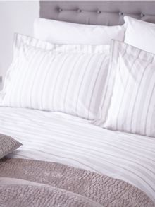 Platinum stripe bed linen