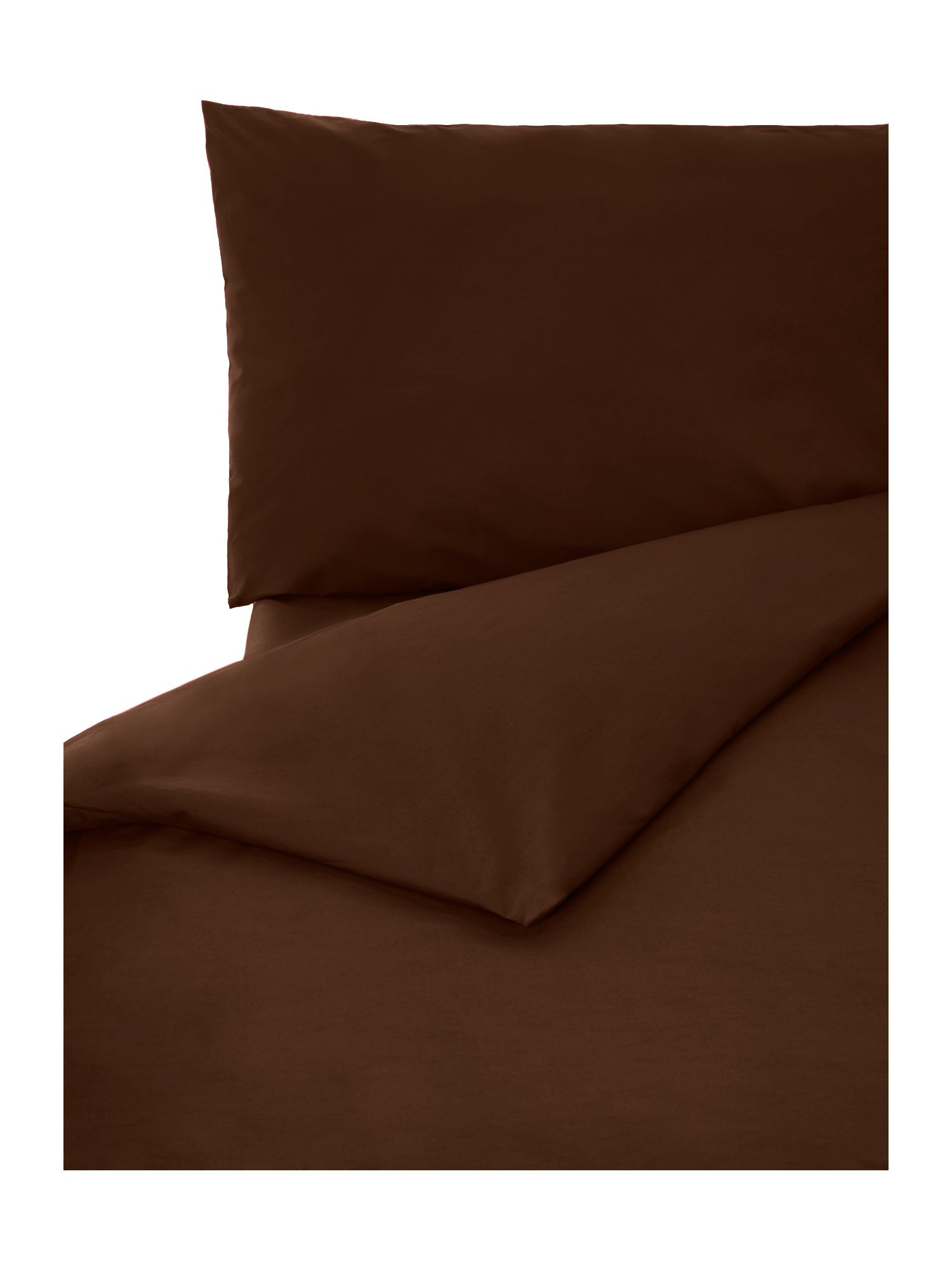100% cotton double fitted sheet chocolate