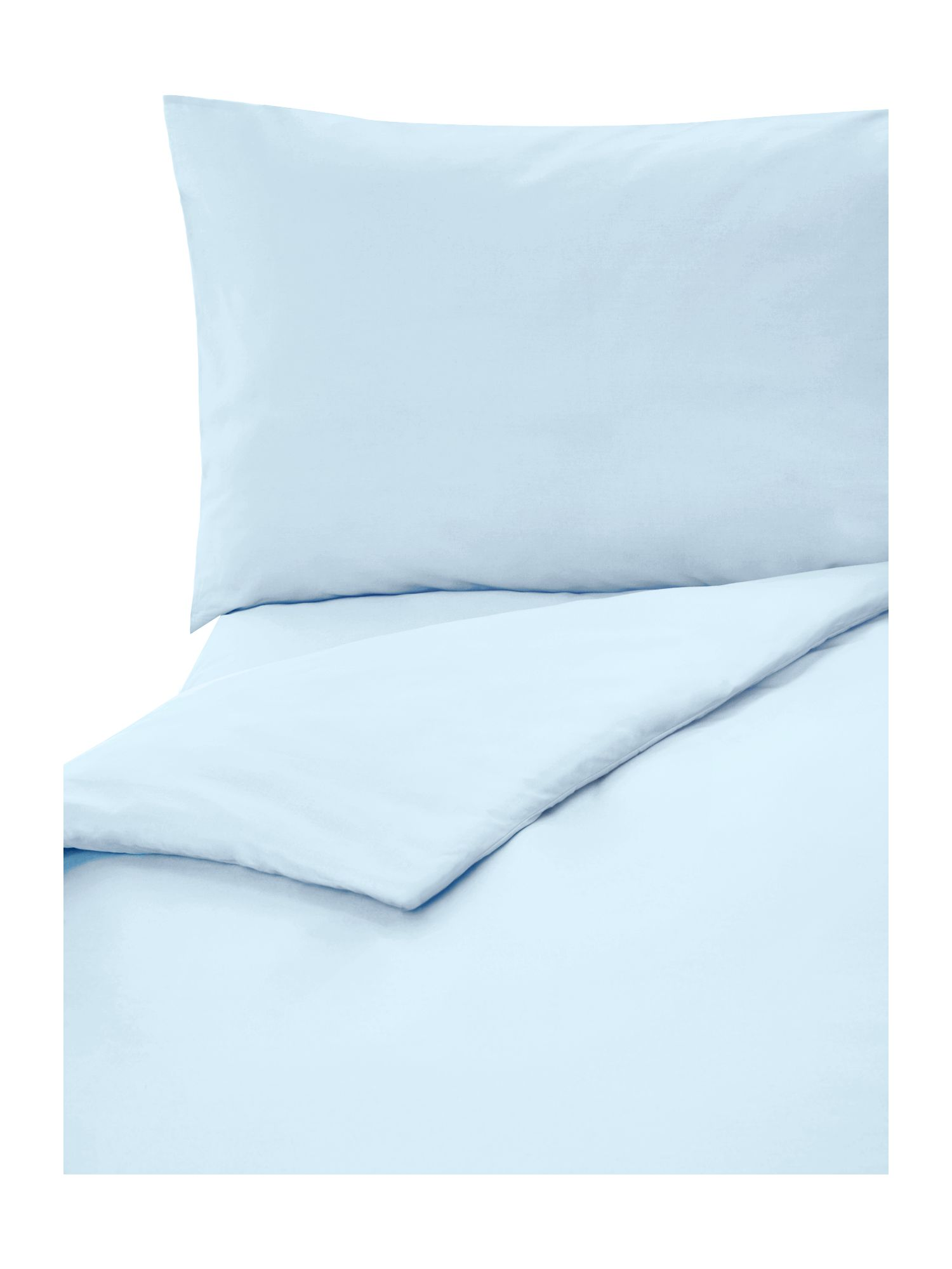 100% cotton double duvet cover powder blue