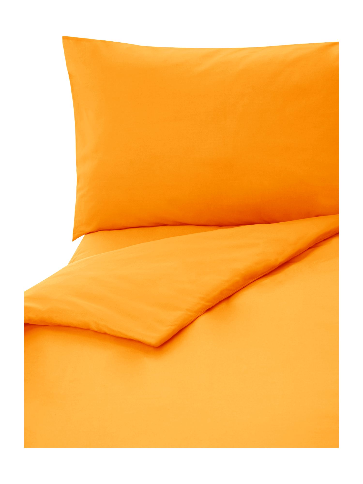 100% cotton double fitted sheet burnt orange