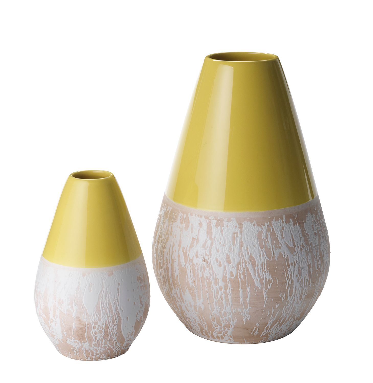 House of Fraser Lime Vases