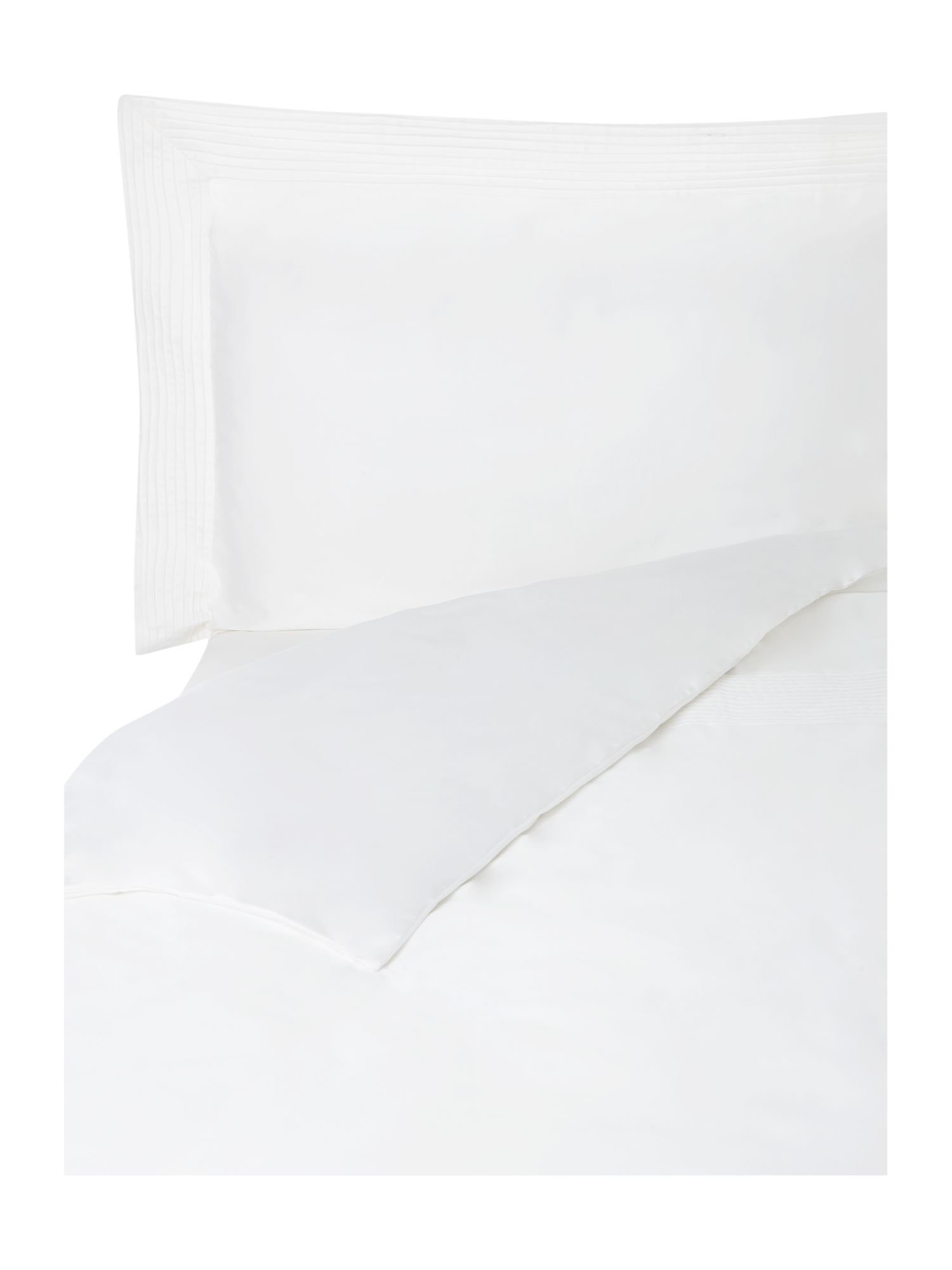 Oxford pintuck white bed range