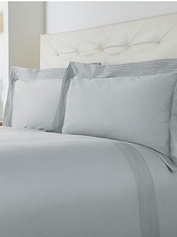 Oxford pintuck single duvet cover set soft blue