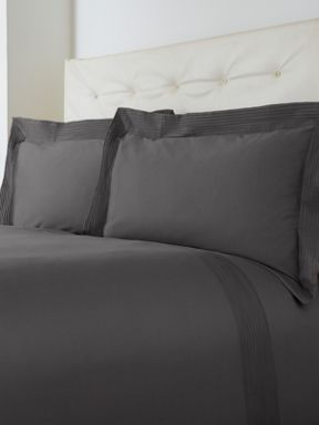 Luxury Hotel Collection Oxford pintuck bed linen slate