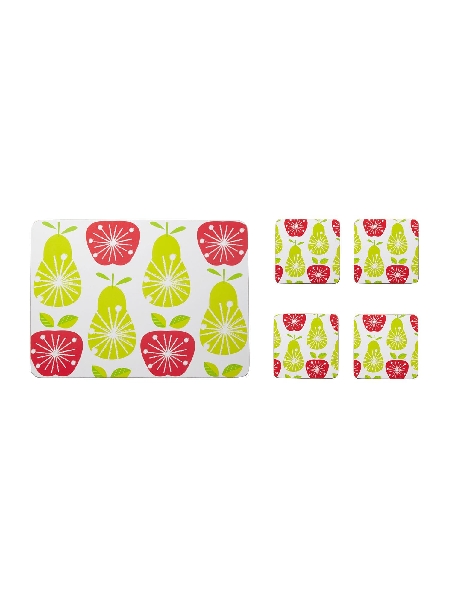 Fruit Salad placemat set of 4