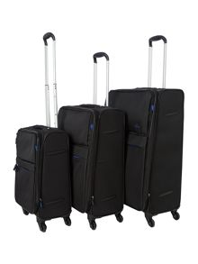 Linea Hyperlite black luggage range
