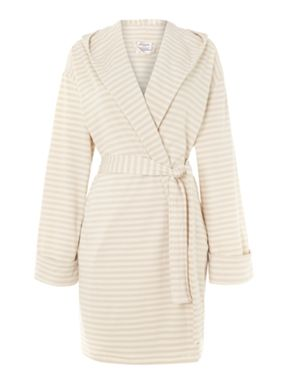 Linea Beige striped summer robe