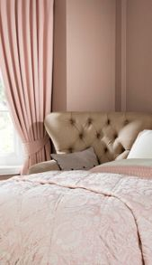Limoges curtains in pink rose